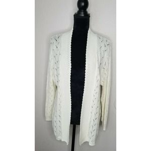 Bon Worth Open Front Cardigan Sweater Casual